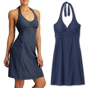 NWT athleta pack everywhere halter dress blue
